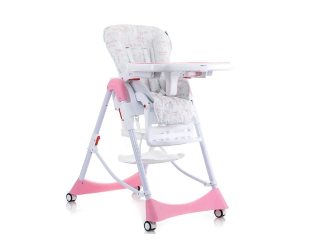 Mioobaby Baby High Chair Mosaic M100 Pink Mioobaby