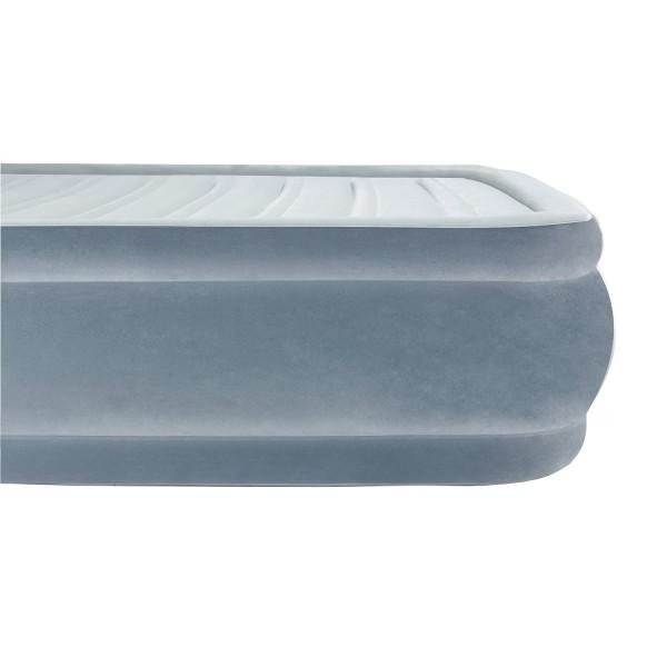 Велюровый матрас BestWay 67488 Серый 191 x 97 x 36 см с дорожной сумкой