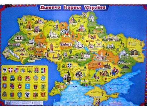 Ranok Creative Детская карта Украины, укр. (12104102У) Ranok Creative