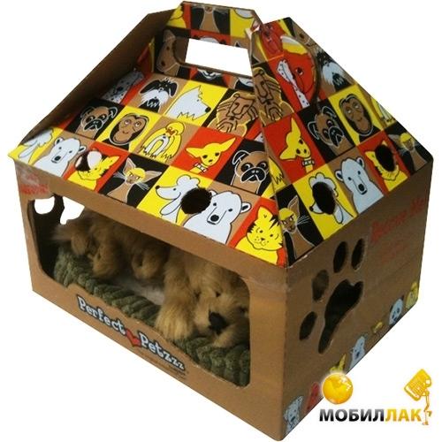 Домик для щенка из коробки фото