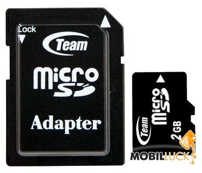 Team 2GB microSD (adapter SD) (TUSD2G03) MobilLuck.com.ua 56.000