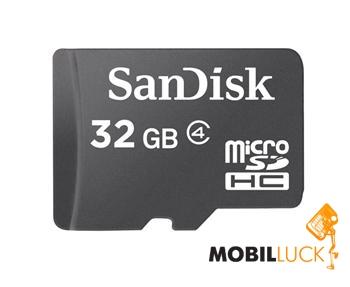 Sandisk microSDHC 32 Gb Class 4 no adapter (SDSDQM-032G-B35) MobilLuck.com.ua 240.000