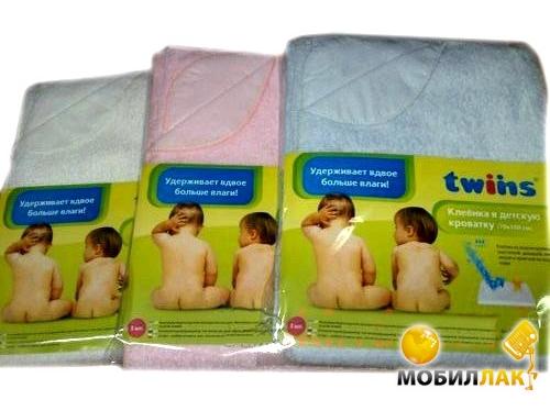 Twins Простыня махровая непромокаемая 70х100 см Pink MobilLuck.com.ua 81.000