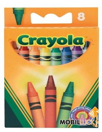 Crayola 8 разноцветных стандартных восковых мелков (0008) MobilLuck.com.ua 14.000