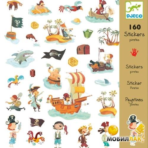 Djeco Набор наклеек 160 шт. Пираты MobilLuck.com.ua 64.000