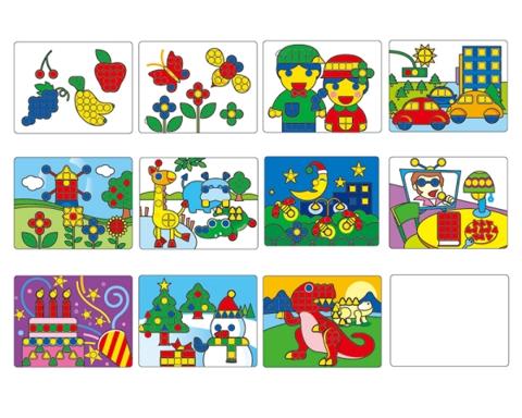 Gigo Набор рабочих карт для Мозаика 1192-1 (1192-2) Gigo