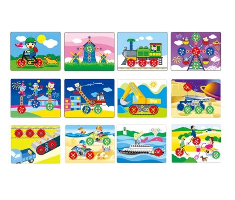 Gigo Набор рабочих карт для Шестерни 1195-3 (1195-4) Gigo