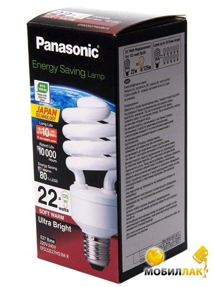 Panasonic 22W (125W) 2700K E27 MobilLuck.com.ua 40.000