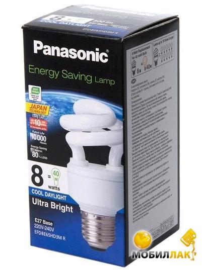 Panasonic 8W (40W) 6500K E27 MobilLuck.com.ua 16.000