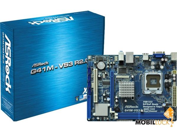 ASRock G41M-VS3 R2.0 (s775, Intel G41, PCI-E x16) ASRock