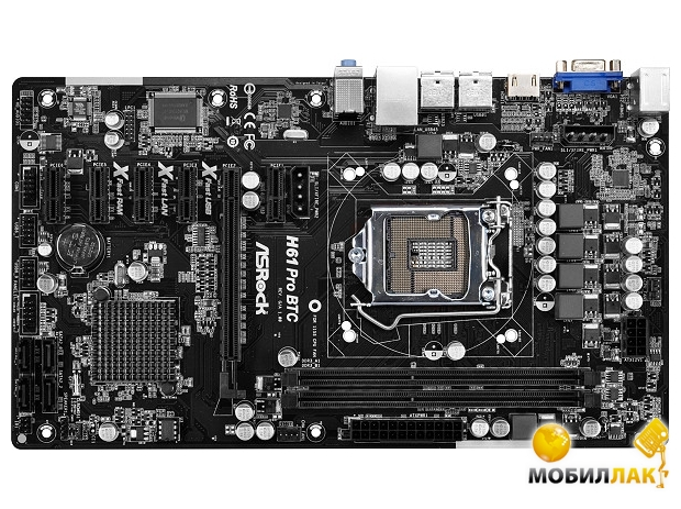 ASRock H61 PRO BTC (s1155, Intel H61, PCI-E) MobilLuck.com.ua 786.000