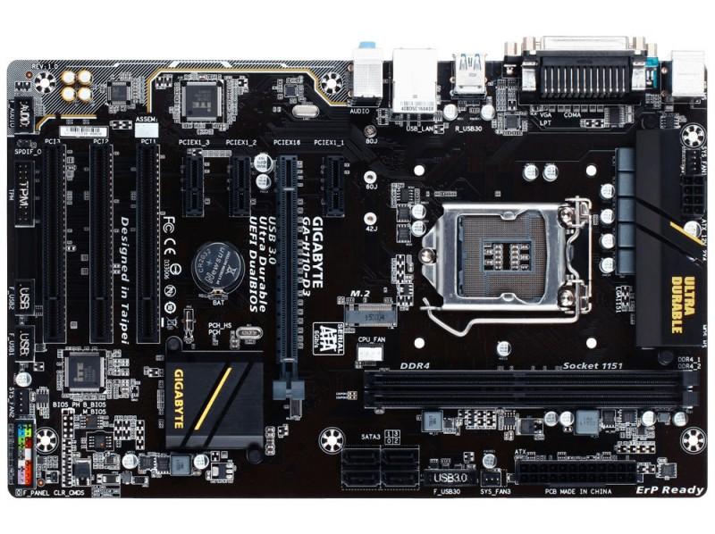 Gigabyte GA-H110-D3 (s1151 IntelH 110 DDR4 VGA 3xPCI) Gigabyte