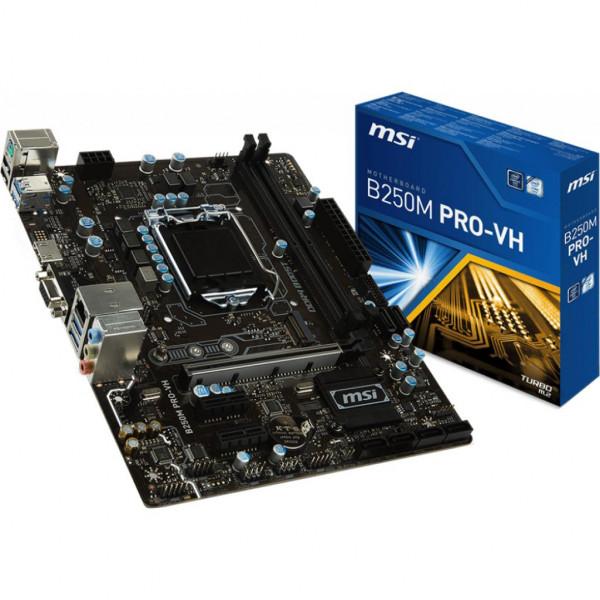 MSI B250M Pro-VH s1151 B250 2DD 4 HDMI-VGA USB 3.1 mATX MSI