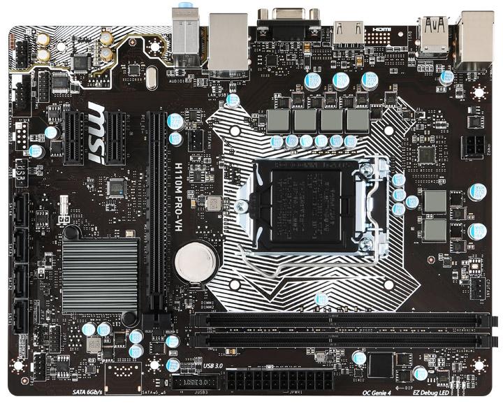 MSI H110M PRO-D s1151 H110 2 DDR4 DVI mATX MSI
