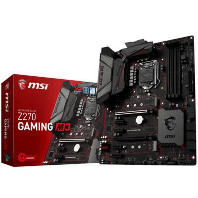 MSI Z270 Gaming M3 s1151 Z270 4DDR4 HDMI-DP M.2 USB3.1 ATX MSI