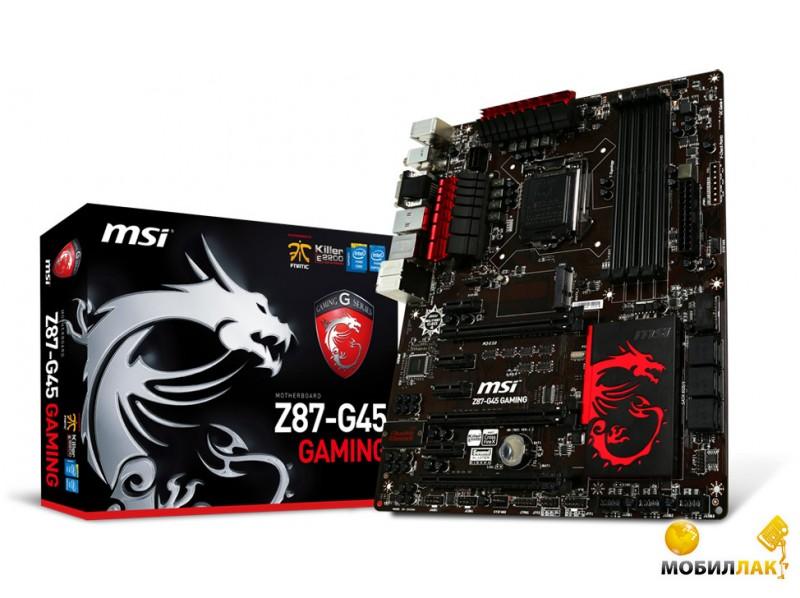 MSI Z87-G45 GAMING (s1150, Intel Z87, PCI-E 3.0x16) MobilLuck.com.ua 2102.000