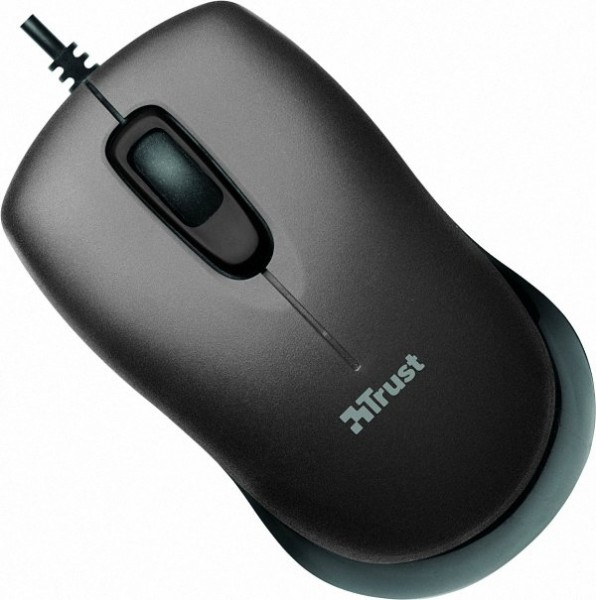 Мышь Trust Evano Compact Mouse USB Black/Grey