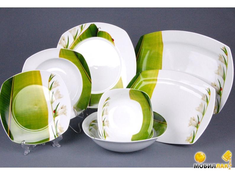Салатовый столовый набор фото