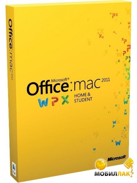 Microsoft Office Mac Home Student 1PK 2011 Russian DVD BOX (GZA-00310) MobilLuck.com.ua 1456.000