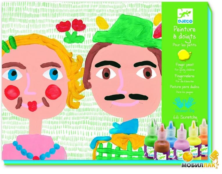 Djeco Художественный комплект Пальчиковые краски Родственники MobilLuck.com.ua 269.000