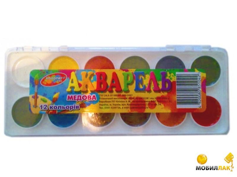 Колорит тон Акварельные 12 цветов (40003) MobilLuck.com.ua 18.000