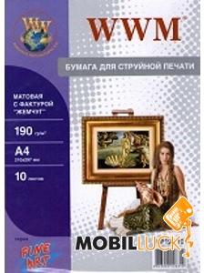 WWM A4 Fine Art матовая Ткань 190g/m2, 10л (MC190.10) MobilLuck.com.ua 30.000