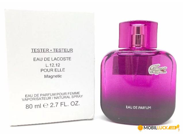 Купить Парфюмированная вода для женщин Lacoste Pour Elle Magnetic 80 ml  (тестер) (8005610266596). Цена 215f063be457c