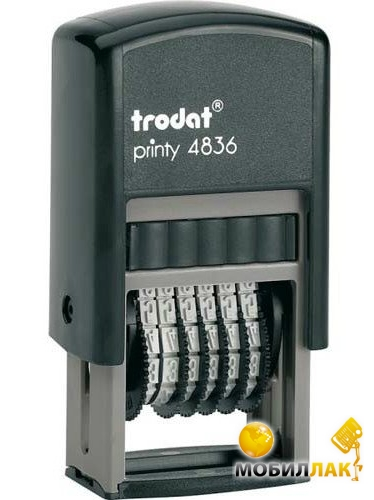 trodat Trodat Мининумератор 3,8мм, 6 разрядов, пластмассовый (4836)