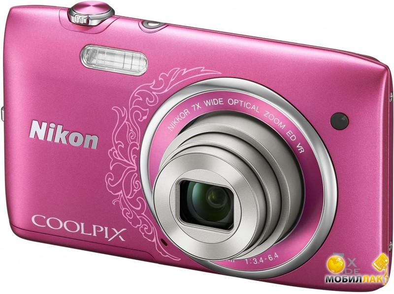 Nikon Coolpix S3600 Pink lineart MobilLuck.com.ua 2099.000