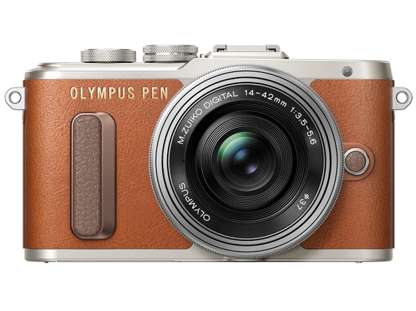 Olympus E-PL8 14-42 mm Pancake Zoom Kit brown/silver Olympus