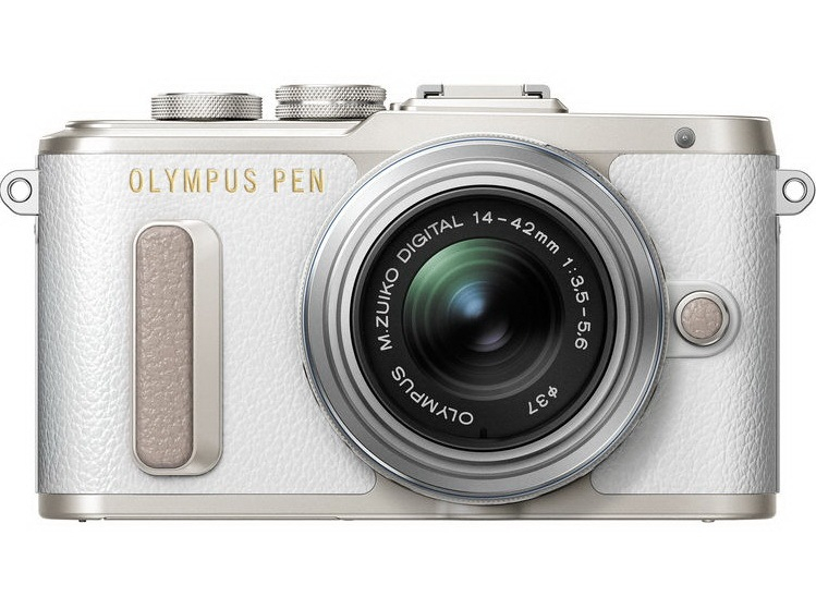 Olympus E-PL8 14-42 mm Pancake Zoom Kit white/silver (V205082WE000) Olympus