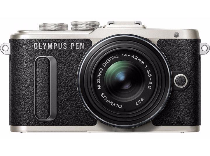 Olympus E-PL8 14-42mm Pancake Zoom Kit black/black (V205082BE000) Olympus