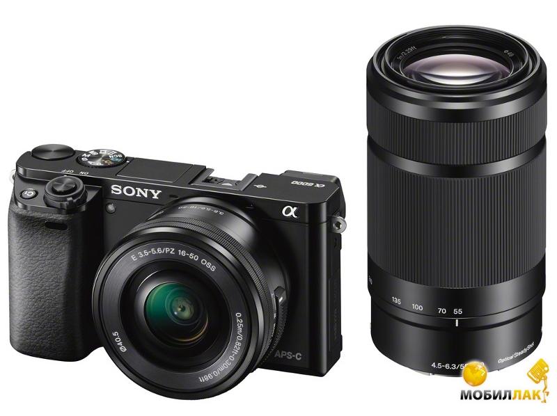 Sony Alpha 6000 16-50mm + 55-210mm Black MobilLuck.com.ua 16499.000