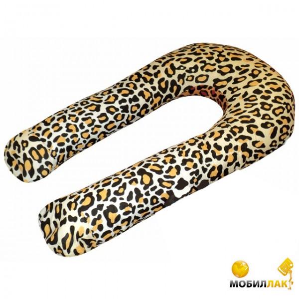 Малышастик U-образная подушка для беременных Леопардовая (pod167) MobilLuck.com.ua 393.000