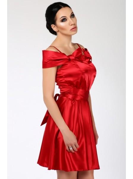 Купить Атласное Красное Платье