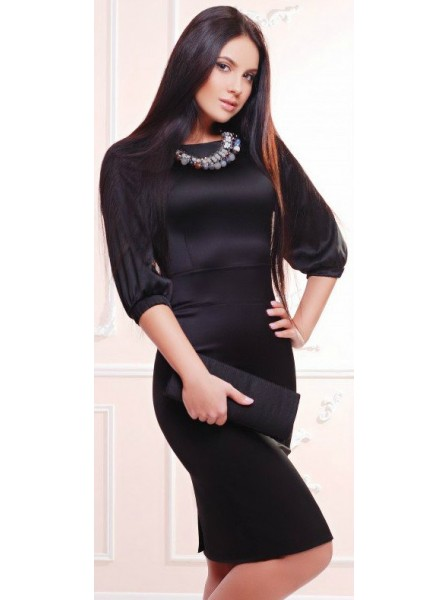 75b6a841fa8 Платье Irmana LUX PL-1298A S (42 UA) Черное. Купить Платье Irmana ...