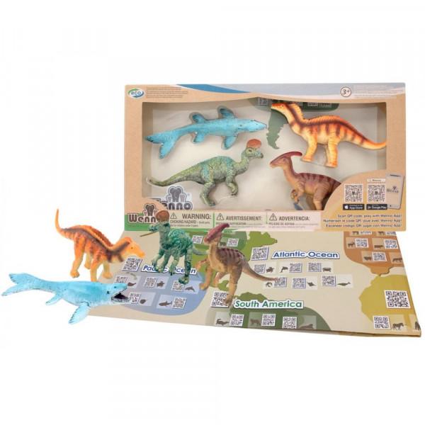 Wenno Динозавры Мелового Периода с QR-картой (WRD1701) Wenno