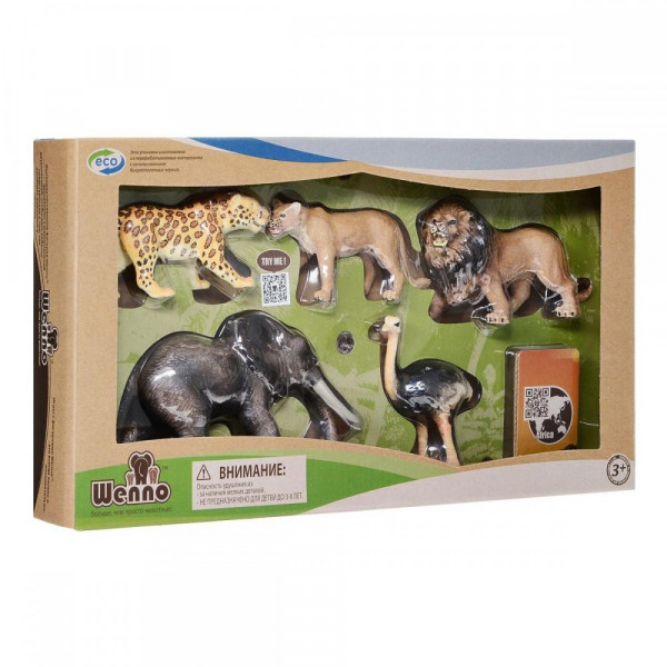 Wenno Животные Африки S1 с QR-картой (WAF1701) Wenno