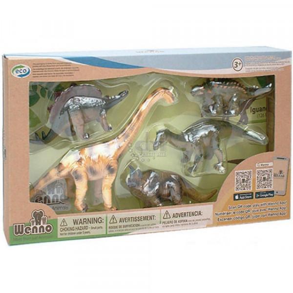 Wenno Травоядные Динозавры с QR-картой (WHD1701) Wenno