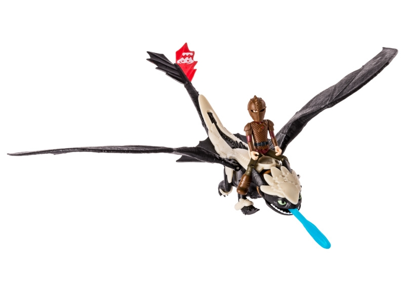 Spin Master Дракон Беззубик в броне с всадником Иккингом (SM66607-2) Spin Master