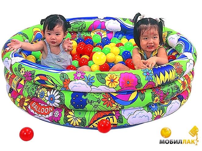 Unix Сухой бассейн Яркий мир с набором шариков (LI-620B) MobilLuck.com.ua 534.000