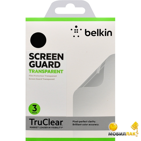 Защитная пленка для Samsung Galaxy Mega 6.3 Belkin Screen Overlay CLEAR 3in1 F8M662vf3