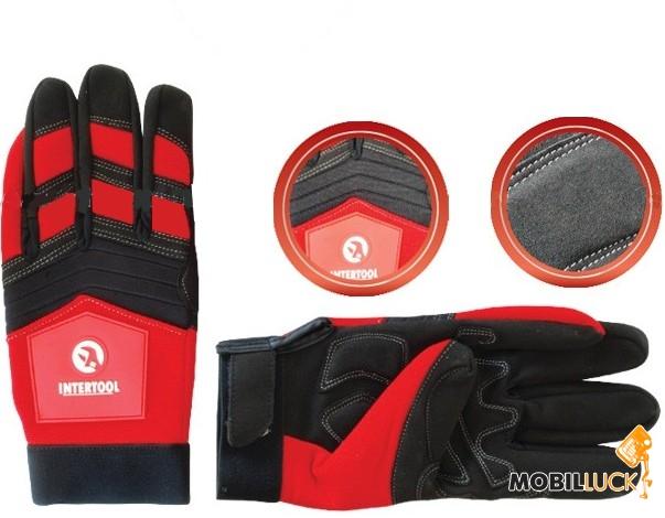 Intertool SP-0143 Перчатка Microfiber тканевая красная MobilLuck.com.ua 102.000