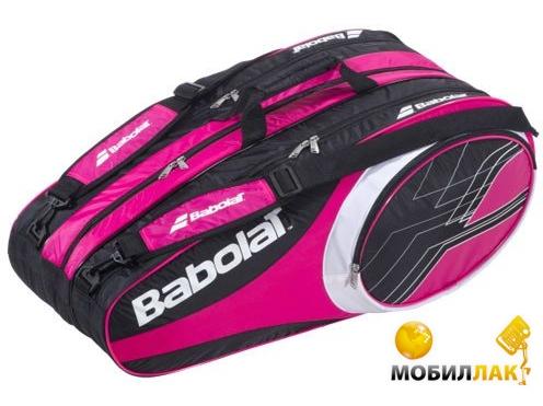 babolat Babolat Racket Holder X 12 Club Pink 2013 year 751072/156