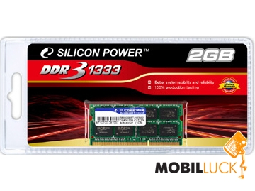 Silicon Power SODIMM DDR3 2Gb 1333Mhz (SP002GBSTU133V02) MobilLuck.com.ua 344.000