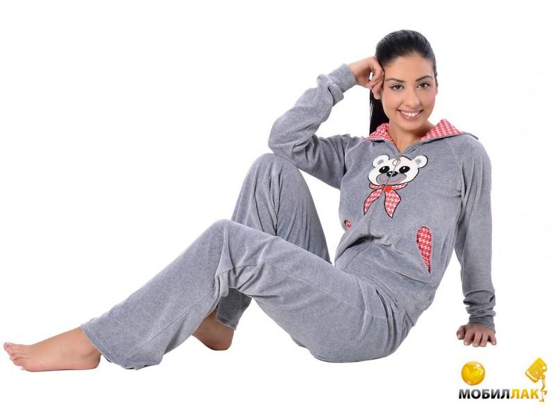 Arya женский с капюшоном 13305 Xxl серый (8690000014552) MobilLuck.com.ua 812.000