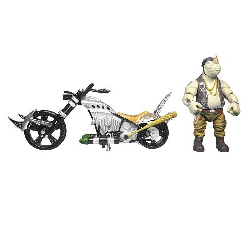 Боевой транспорт TMNT Черепашки-ниндзя Movie II Мотоцикл и фигурка Роксте (89303)