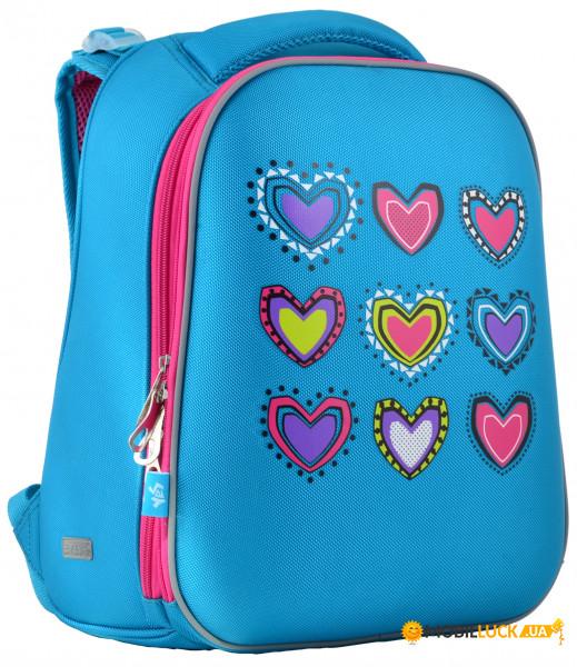 eb0facbf64b4 Рюкзак каркасный Yes H-12-1 Hearts turquoise (554490). Купить Рюкзак  каркасный Yes H-12-1 Hearts turquoise (554490). Цена, доставка по Украине -  Киев, ...