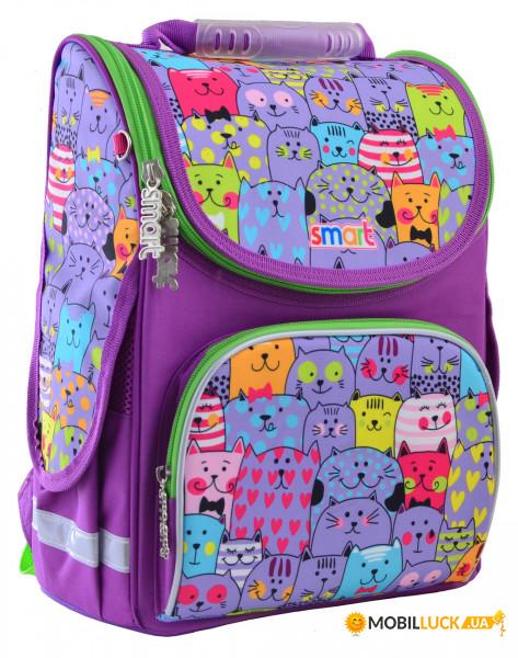 9bde20e68a99 Рюкзак школьный каркасный Smart PG-11 Kotomania (555916). Купить ...
