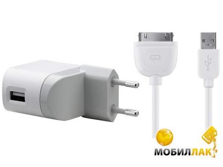 Belkin USB Charger (220V + iPad/iPhone/iPod сable, USB 2.1Amp), Белый (F8Z630CW04) MobilLuck.com.ua 350.000